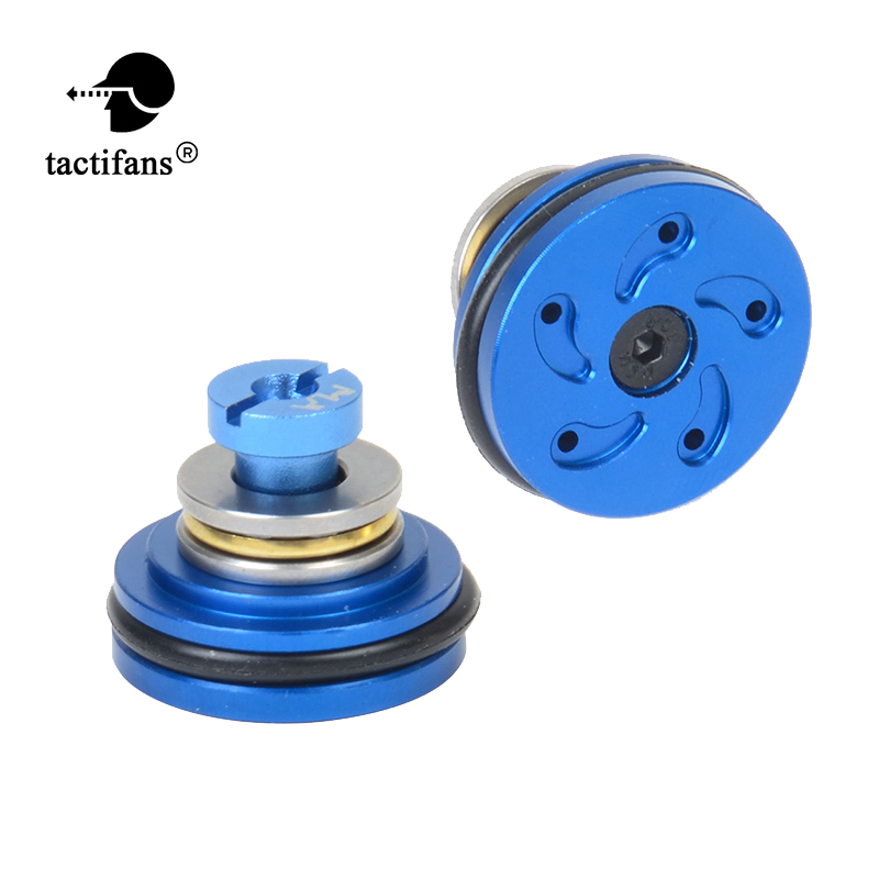 Tactifans Airsoft Ball Bearing Piston Head Aluminium Whirlwind 5 Holes For Ver.2/3 AEG Gearbox (new Type)  Upgrade Gears