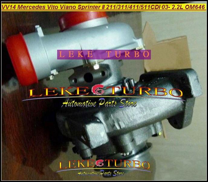 все цены на  RHF4 VNT VV14 VF40A132 A6460960199 Turbo For Mercedes PKW Vito 111 115 W639 Viano Sprinter II 211 311 411 511CDI 03- OM646 2.2L  онлайн