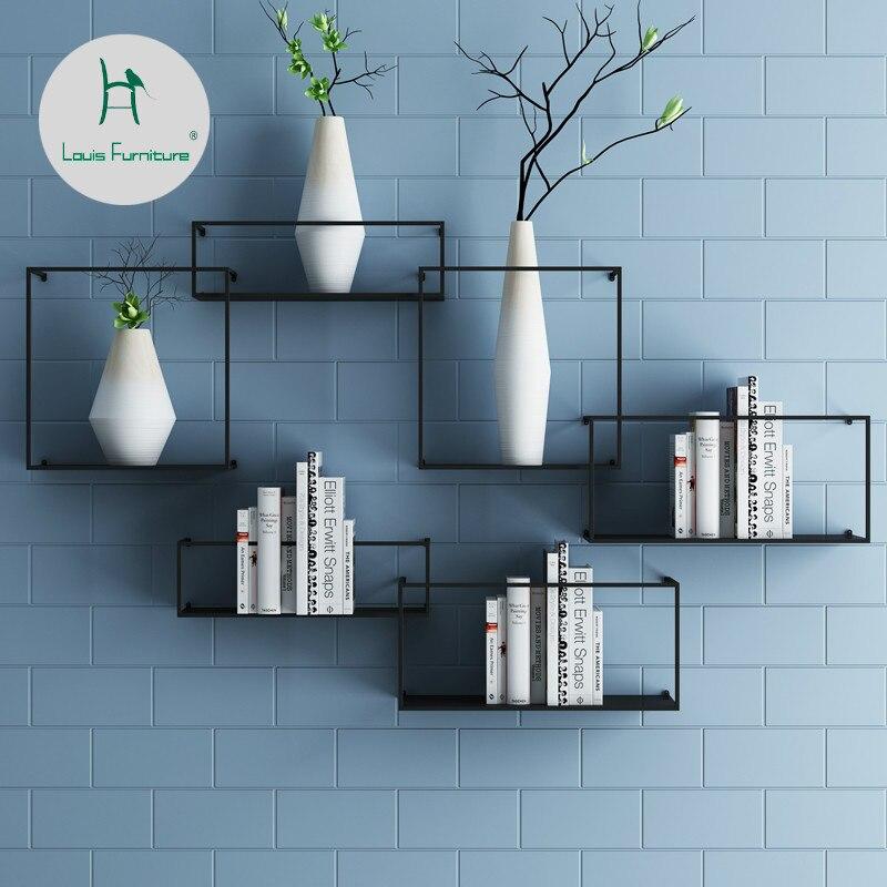 Us 300 Louis Fashion Nordic Rak Hiasan Dinding Ruang Tamu Sederhana Tv Latar Belakang Dekorasi Kreatif Rak Buku In Lemari Buku From Furniture On