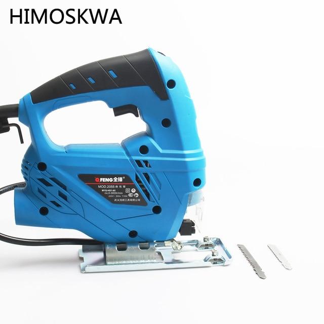 TECHSTABLE 710W Electric curve saw woodworking Electric jigsaw metal wood gypsum board cutting tool Free shipping