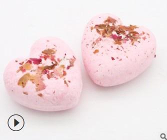 Heart 30pcs/lot Natural Rose Dried Flower Essential Oil Bath Salts Bubble Moisturizing Explosive Bath Supplies Skin Care HA453