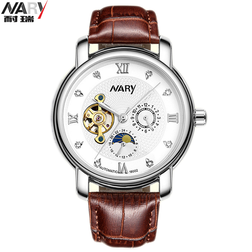 NARY Top Luxury Casual Clock Men Automatic Watch Skeleton Business Watches Mechanical Relogio Male Montre Wristwatch Man Relojes 2017 winner top brand luxury blue men watch automatic skeleton mechanical wristwatch male man watches hour relogio masculino