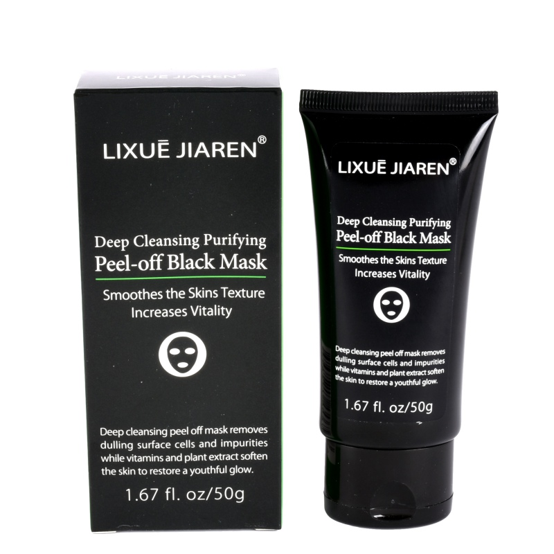 Deep Pore Mask With Activated Charcoal: Blackhead Remover Mask Purifying Peel Off Mask Cleansing