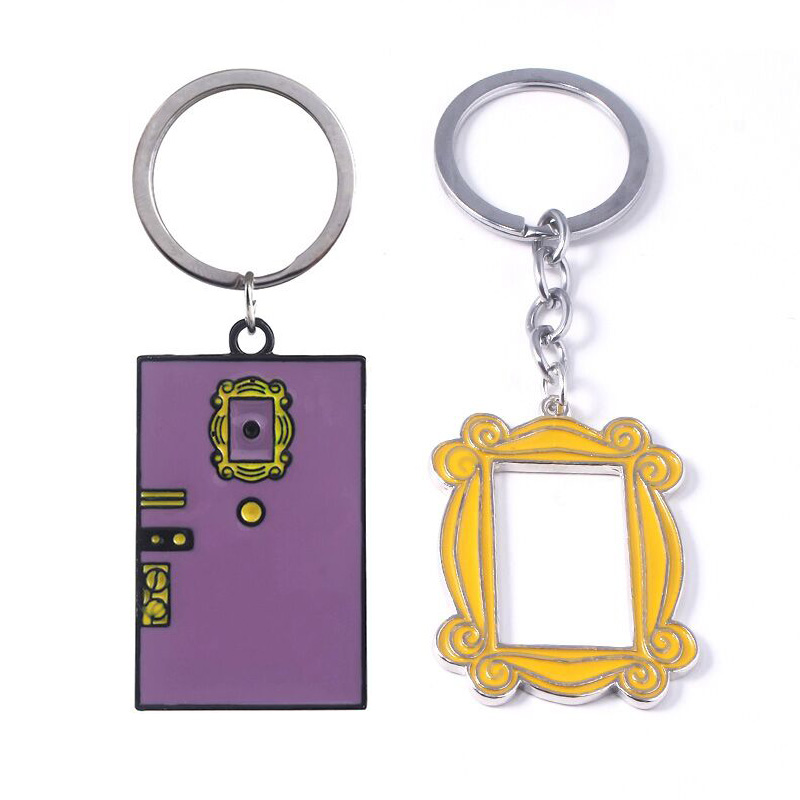 Rongji Jewelry TV Show Friends Monica's Double Door Frame Keychains Boyfriend Girlfriend Best Friend Gift