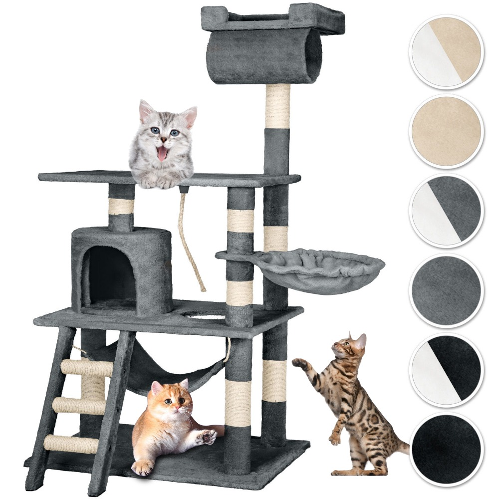 Cats Tree Tower Pets Animal Play Tree Funny Scratching Tree Scratcher Chewing Climbing J ...