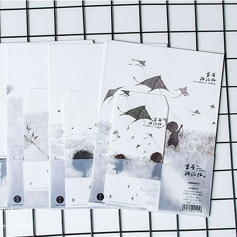 9pcs/Set 3 Envelopes + 6 Writting Paper Creative Childhood Memory Series  Envelope For Gift Korean Stationery