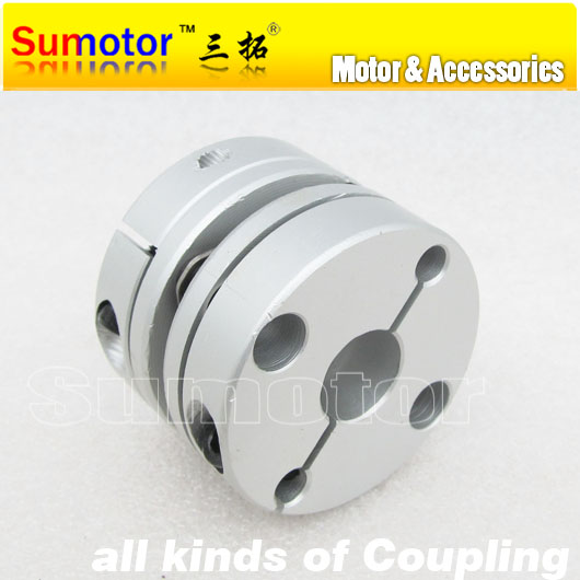 CNC OD 44mm L 35mm, Bore 12mm 12.7mm 14mm 15mm 16mm 18mm 19mm 20mm 22mm, for servo Stepper Motor flexible diaphragm Coupling new flexible aluminum alloys double diaphragm coupling for servo and stepper motor couplings d 44 l 50 d1 and d2 are 8 to 20 mm