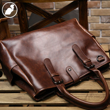 ETONWEAG New 2016 men famous brands cow leather vintage business style laptop shoulder bags brown crossbody luxury handbags