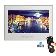 21.5inch Free Shipping Full HD 1080P Android Smart Vanishing Glass Mirror Waterproof TV with LAN and Intergrated Wi-Fi