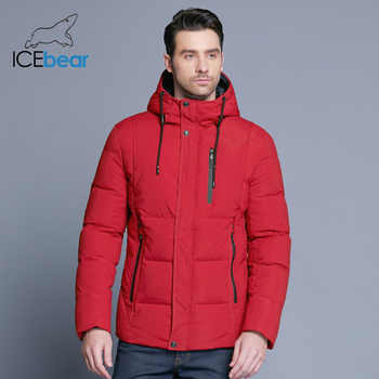 ICEbear 2019 new winter men's jacket simple fashion hooded coat knit cuff design male's thermal fashion brand parkas MWD18926D - DISCOUNT ITEM  63% OFF All Category