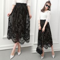 2017 Spring And Autumn New Arrival All Match Bust Skirt High Waist Plus Size Elastic Pleated