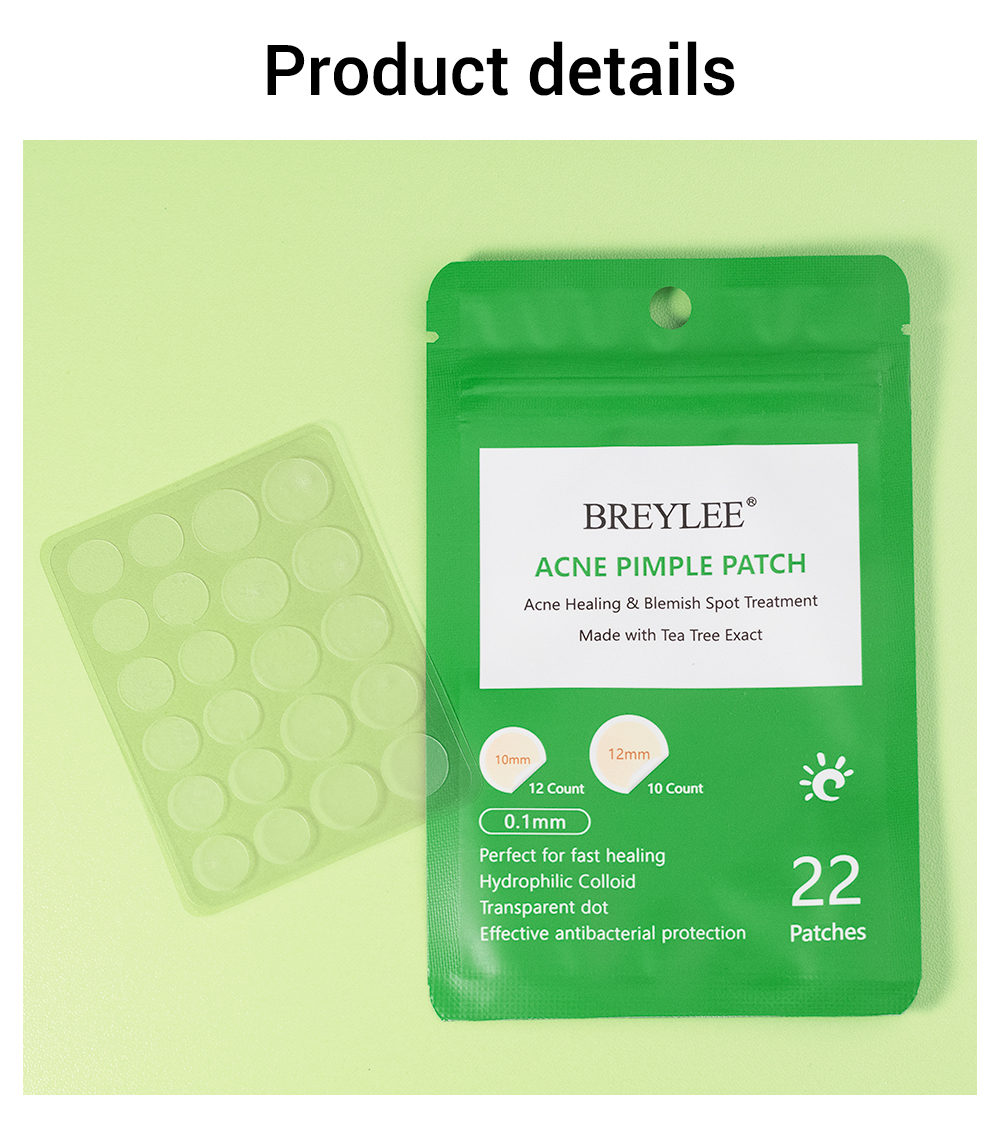BREYLEE Acne Pimple Patch Face Mask Peeling Acne Treatment Acne Cream Pimple Remover Tool Blemish Spot Skin Care Daily Use 10PCS