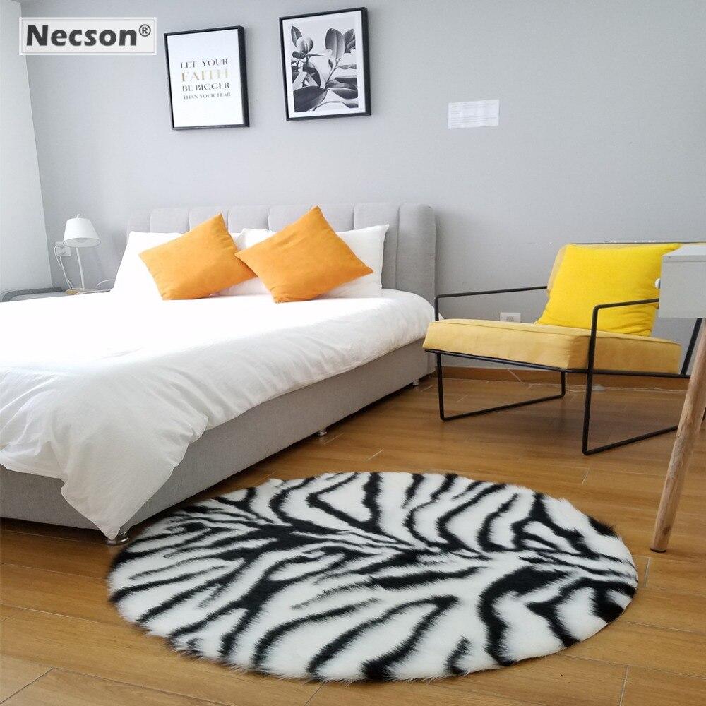 US $26.91 31% OFF|Tiger Leopard Zebra Streifen Runde Teppich Schlafzimmer  Teppich Kinder tier haut gedruckt teppich Fenster Wohnzimmer Sofa Matte 75/  ...