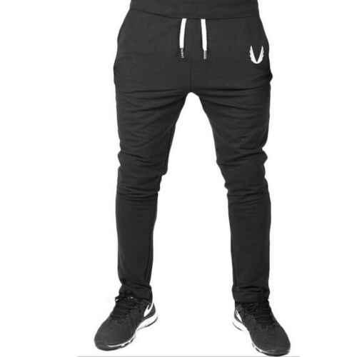 Basit şık erkekler sonbahar rahat spor salonu Slim Fit pantolon koşu Joggers spor ter uzun pantolon erkek Casual kalem pantolon M-XXL