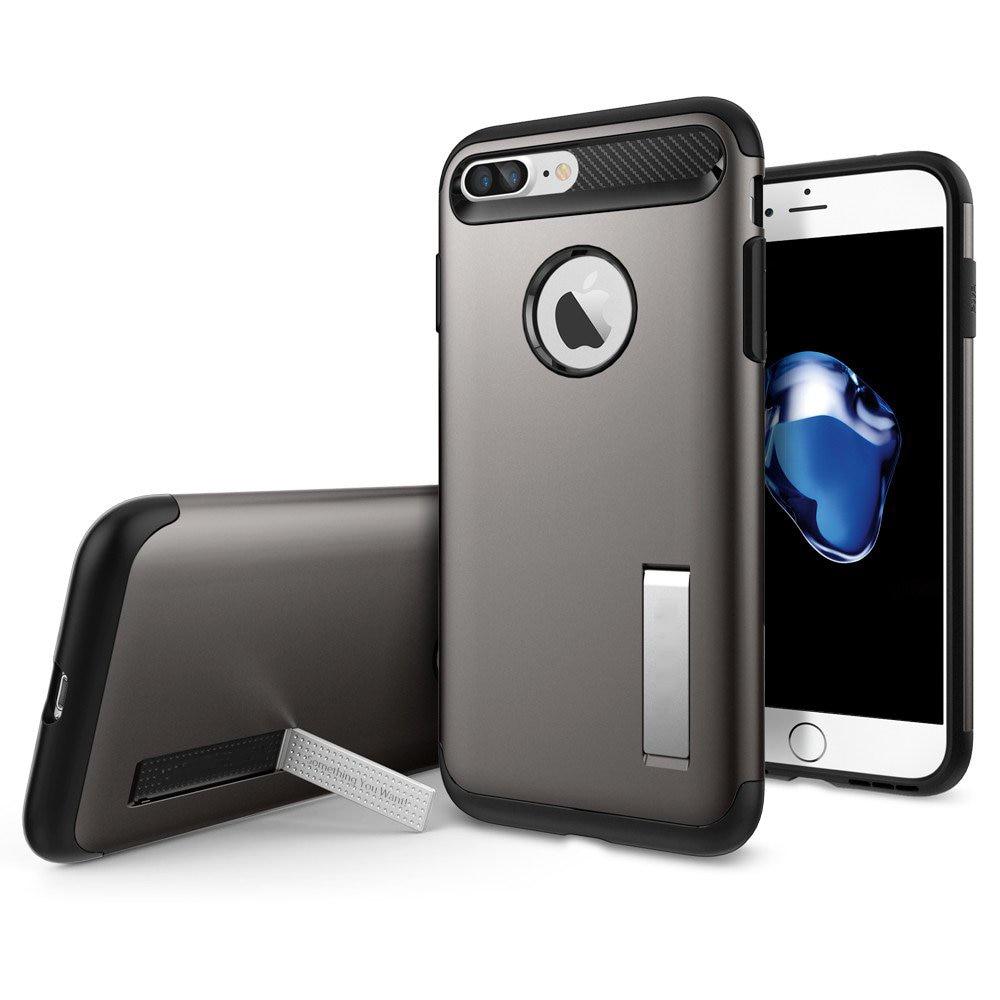 """bilder für 5,5 """"Original Schlank Rüstung Fall für iPhone 7 Plus Military Standard Fallschutz Hybrid Telefon Fällen mit Ständer"""