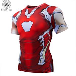 Avengers 4 Iron Man MK85 3D Printed T shirts Men Compression Shirts Raglan Sleeve 2019 Short Sleeve Cosplay Costume Tops Male