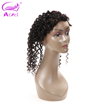 Ariel Deep Wave Brazilian Hair 360 Frontal Closure 22.5*4*2 Natural Color Free Shipping Remy Human Hair With Baby Hair
