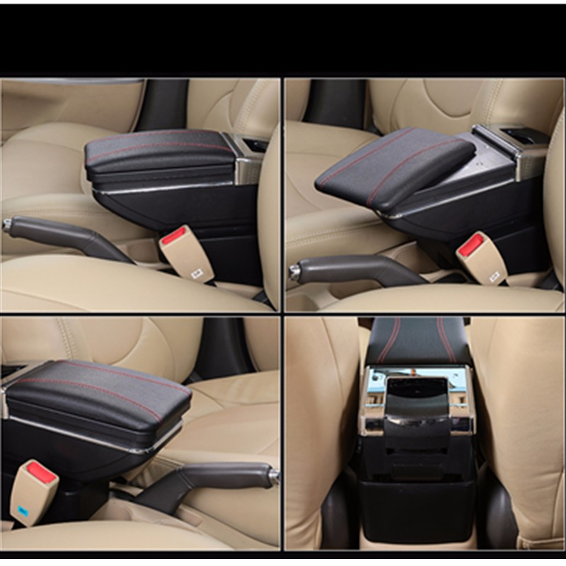 For Hyundai Accent 2006 2011 Car Armrest box central Console Arm Store content box cup holder ashtray PU Leather Car Accessories in Armrests from Automobiles Motorcycles