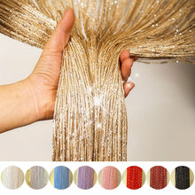 2019 New Luxury Crystal Line Bright Curtain Flash Lamp Screen Window Duster Transparent Value Family Wedding Home Decoration
