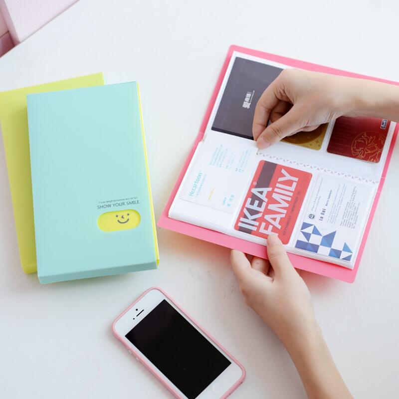 1 Stück 120 Slots Frauen Männer Reine Farbe Visitenkarte Buch Pp Große Kapazität Business Id Halter Organizer Karte Set Fest In Der Struktur