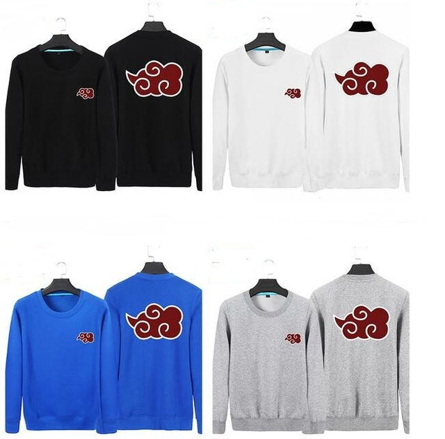 Red Clouds Printed Anime Naruto Pullovers