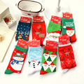 2016 Solid Rushed Sale Real Christmas Socks Calcetines Mujer Autumn And Winter Santa Cartoon Gift Elk Snowman Couples Cotton
