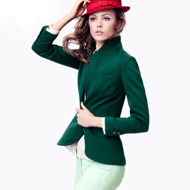 Popular Green Blazer Jacket-Buy Cheap Green Blazer Jacket lots ...