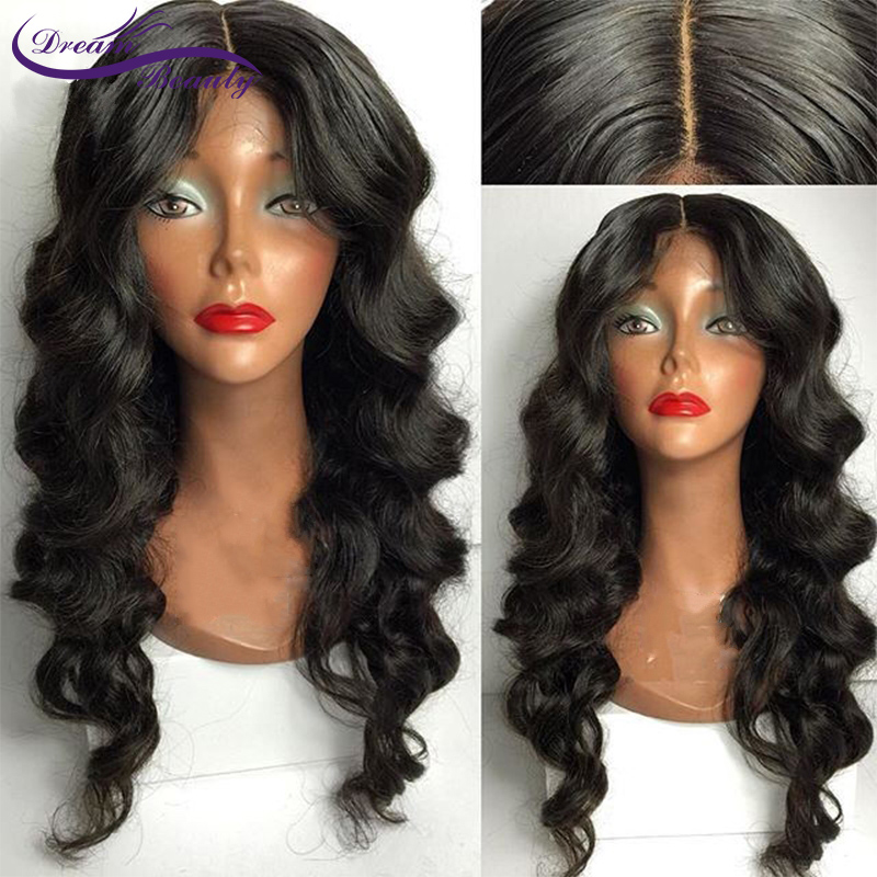 Dream Beauty Silk Base Lace Front Hair Wigs With Pre-Plucked Hairline 130% Density Brazilian Remy Hair Wigs With Baby Hair