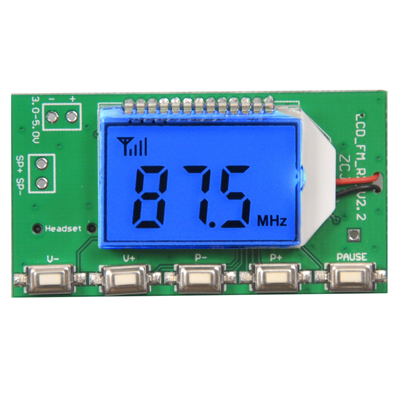 Hottest 87-108MHz DSP & PLL Digital Wireless Microphone Stereo Audio FM Receiver Module professional 87 108mhz dsp