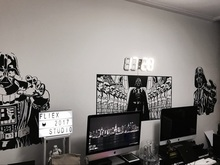 Darth Vader and Storm Troopers Wall Art Mural