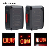 MALUOKASA 2PCs LED Back Brake Stop Light For Jeep JK Wrangler 07 2017 SUV DRL Tail
