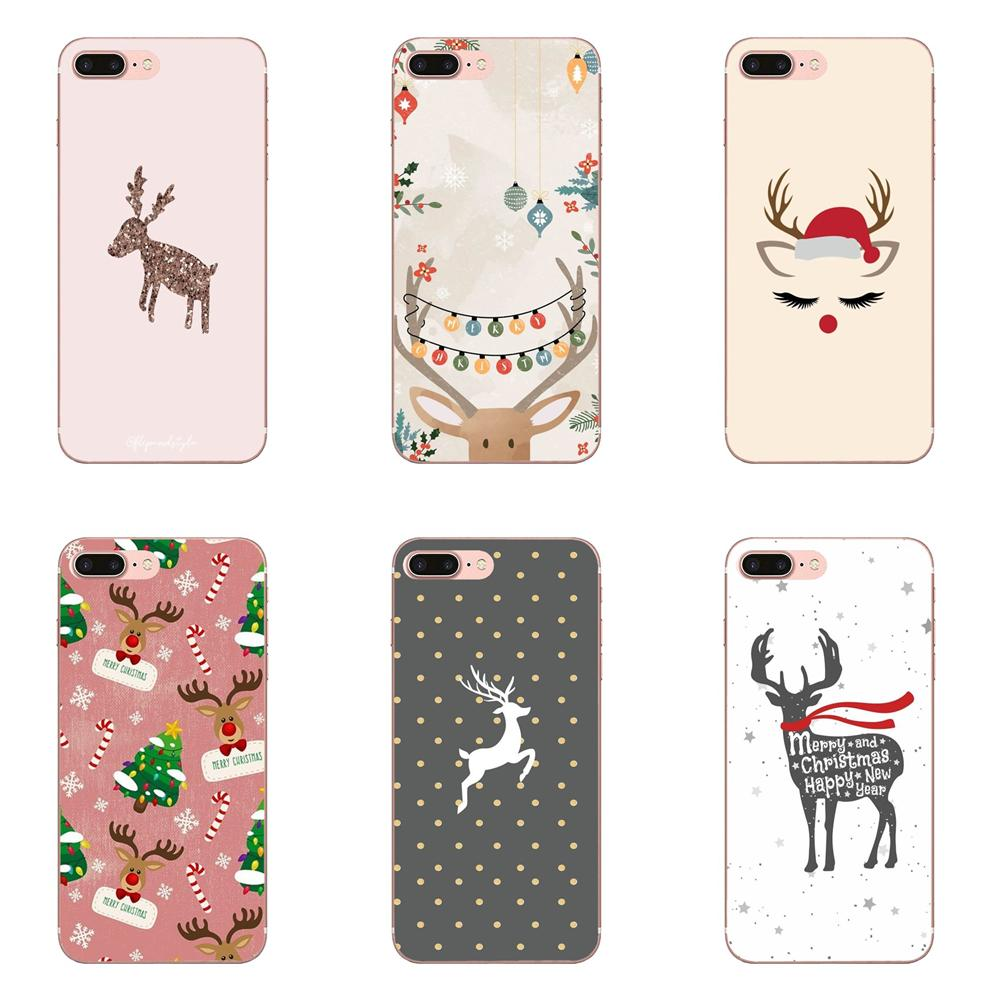 Soft Protector <font><b>Cases</b></font> For <font><b>Huawei</b></font> P7 P8 <font><b>P9</b></font> P10 P20 P30 <font><b>Lite</b></font> Mini Plus Pro 2017 2018 2019 Beautiful Animal Christmas Deer Shell image
