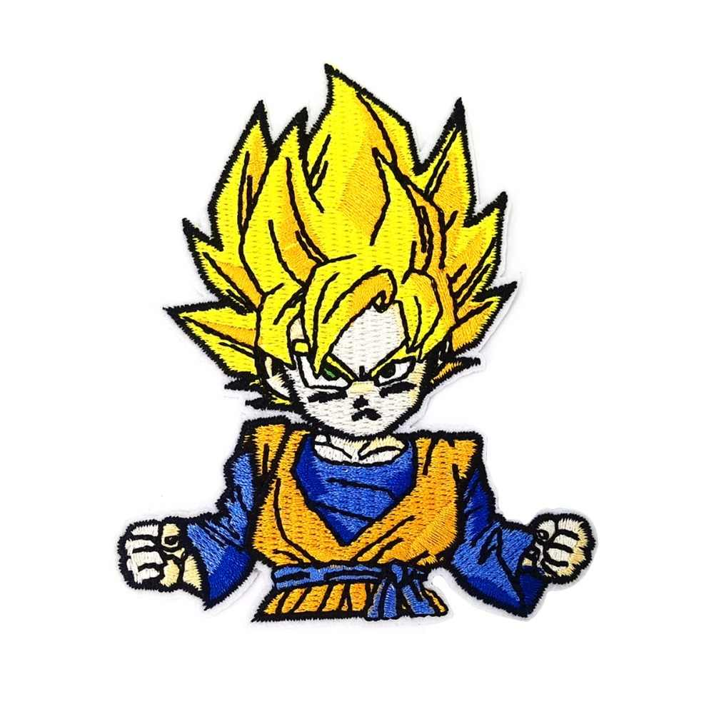 Cartoon Anime Dragon Ball Goku Patch Iron On Embroidered Clothes Patches For Clothing Badges Stickers Garment Wholesale