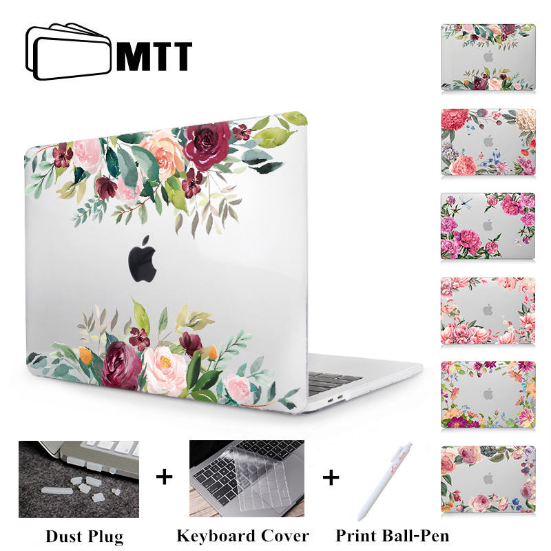 MTT Flowers Crystal Case For Macbook Air 13 Inch A1932 Cover For Apple Macbook Air Pro Retina 11 12 13 15'' With Touch Bar A1989