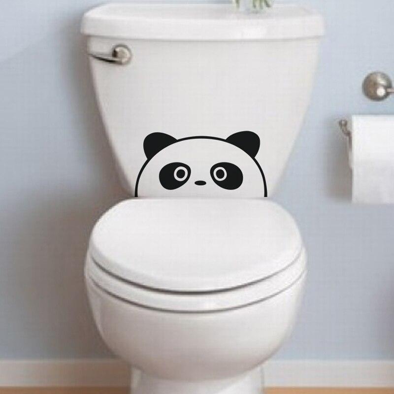 Us 366 Kreatywny śmieszne Ukryte Panda Vinyl Wall Art Naklejki ścienne Home Decor Naklejka ścienna Tapety Do łazienki Toalety Wc Toaleta łazienka