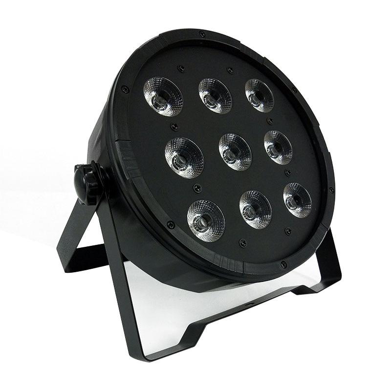 2 unids / lote Control remoto inalámbrico LED Par 9x12W RGBW 4IN1 LED Luz de lavado Etapa Uplighting DJ Party Club Lights Envío gratis y rápido