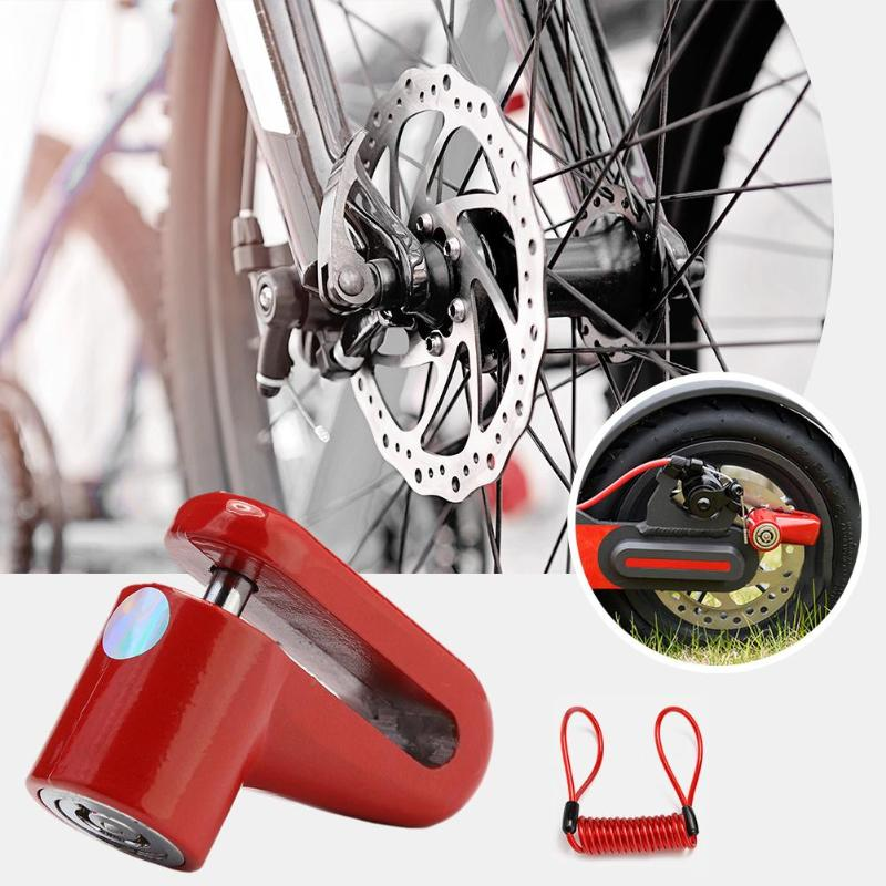 Anti-Theft Disc Brakes Lock for M365 Electric Scooter Anti-Theft Wheels Disc Brakes Lock with Steel Wire Bike Disc Lock