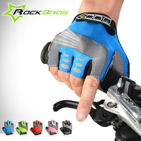 Rockbros Cycling Gloves Half Finger MTB Road Men Women Bike Gloves Padded Palm Shockproof Breathable Guantes