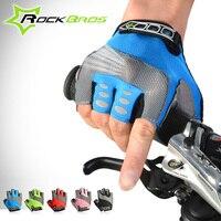 Rockbros Cycling Gloves Half Finger MTB Road Men Women Bike Gloves Padded Palm Shockproof Breathable Guantes