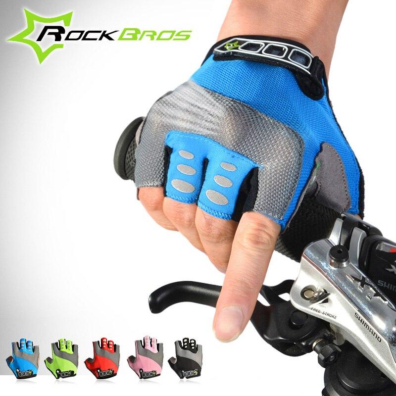 Rockbros Summer Cycling <font><b>Gloves</b></font> Gel Padded Road Bike <font><b>Gloves</b></font> Women Men Breathable MTB Bicycle <font><b>Gloves</b></font> Gants Velo Guantes Ciclismo