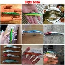 12cm 10g  Bent Minnow Fishing Lure Artificial Baits 3D Fish Eye Minow Lures Fake Bait High Imitation Swimbait Crankbait MI086