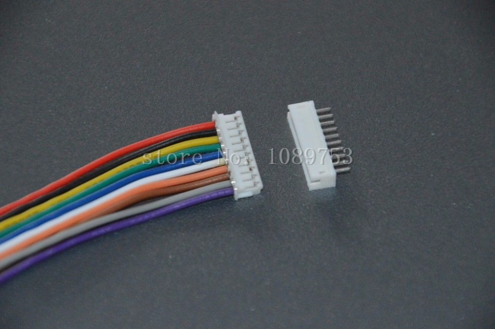 50 Sets JST ZH 1.5mm 10-Pin Female Connector Plug with Wire 10cm/15cm/20cm and Male Connector стоимость