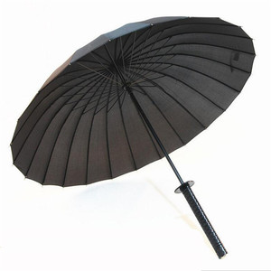 Image 2 - Elegante preto japonês samurai ninja espada katana guarda chuva ensolarado & rainny guarda chuvas de punho longo semiautomático 8, 16 ou 24 costelas