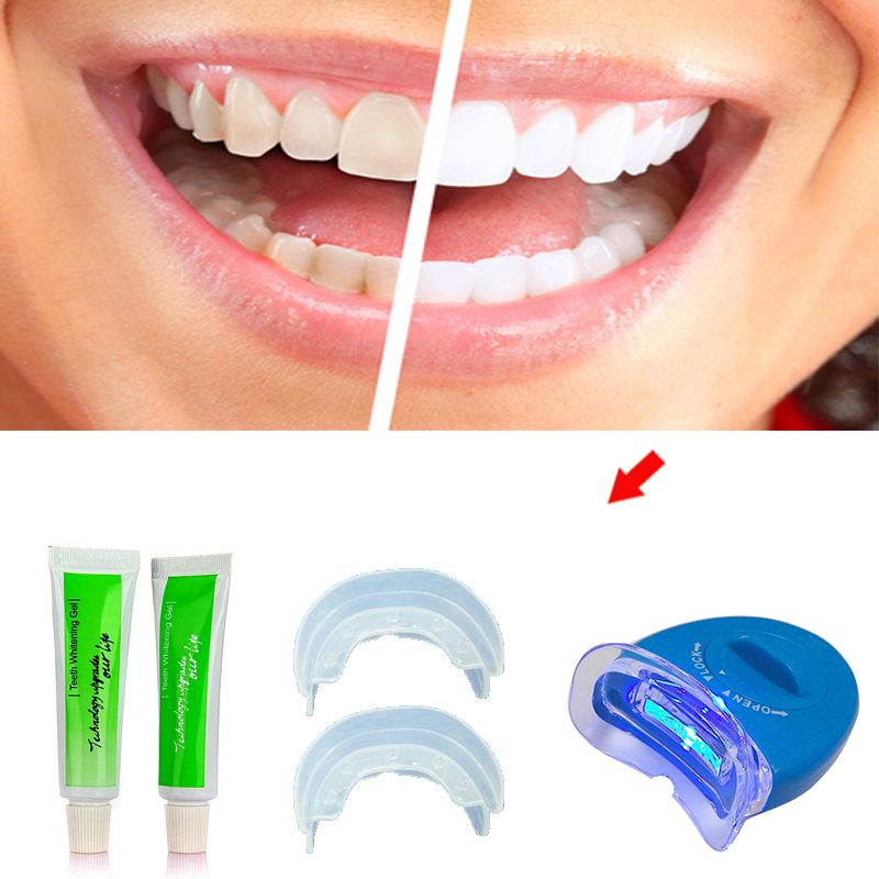 Bright Smile New Professional Home Dental White Teeth Whitening with LED Light For men women care Tooth health Whitener Kit