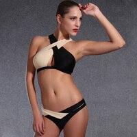 2016 High Neck Bikini Wrap Women Swimsuit Sexy Beach Bandage Swimwear Pin Up Swimwear Girls Brazilian