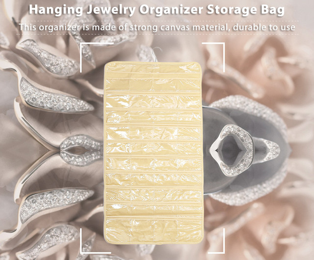 80 Pockets Real Set Organizer Hanging Jewelry Organizer Display