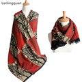 Desigual bufanda de lujo de la marca de Cachemira Bufanda bandana 190*65 cm cuadros Del Nuevo Diseñador de invierno mujeres de La Manera Básica Mantones calientes bufanda