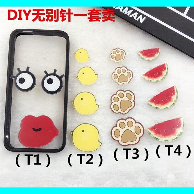 Hot sale popular Red Lips big eyes acrylic  Cartoon Harajuku badge Bag girl's costumes Badge Gift XZ168