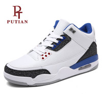 PU TIAN New Arrival Men Basketball Shoes 2018 Professional Trainer Male Sport Shoes Outdoor Athletics Sneakers