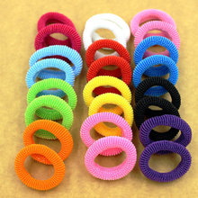 New Fashion 80pcs bag 30mm Colorful Child Kids Bright Hair Holders Rubber Bands Hair Elastics Accessories